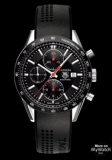 tag heuer carrera calibre 16 chronographe racing carrera cv2014 ft6014 acier bracelet caoutchouc. Black Bedroom Furniture Sets. Home Design Ideas