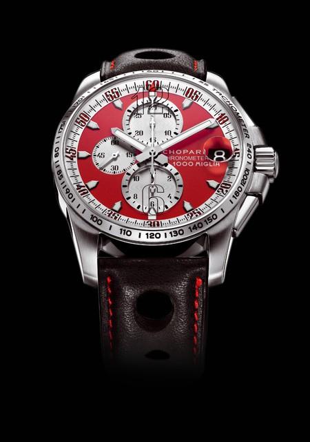 Chopard Mille Miglia GT XL Chrono Rosso Corsa | Mille Miglia 168459 3036 Titane Bracelet Cuir Barénia
