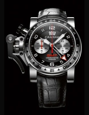 Chronofighter Oversize GMT Black Steel