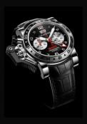 Chronofighter Oversize GMT Black Steel