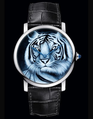 Rotonde de Cartier 42 mm Décor Tigre