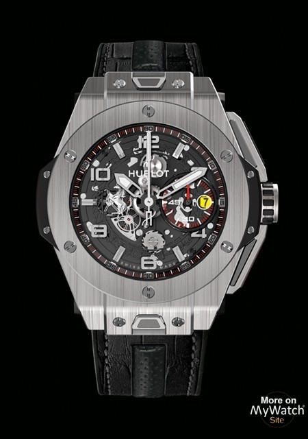 hublot big bang ferrari titanium big bang 401 titane bracelet caoutchouc. Black Bedroom Furniture Sets. Home Design Ideas