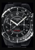 J12 Noire Mate Chronographe Superleggera
