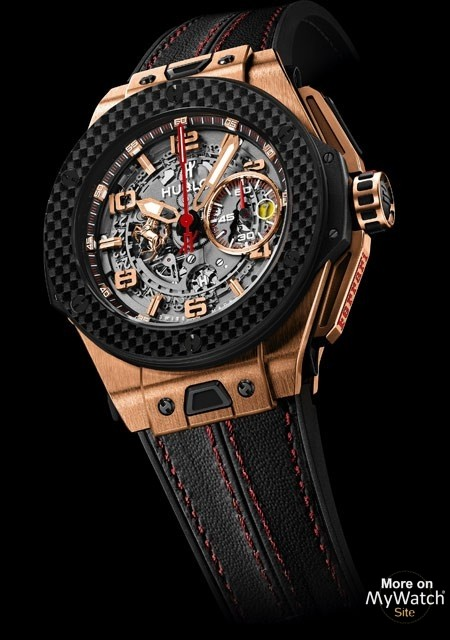 hublot big bang ferrari king gold carbon big bang 401. Black Bedroom Furniture Sets. Home Design Ideas