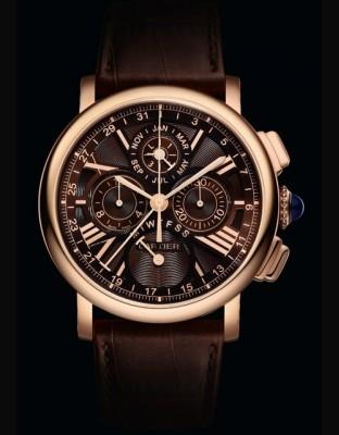 Montre Rotonde de Cartier quantième perpétuel chronographe