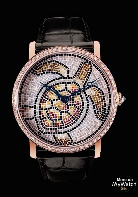 Rotonde de Cartier 42 mm décor tortue