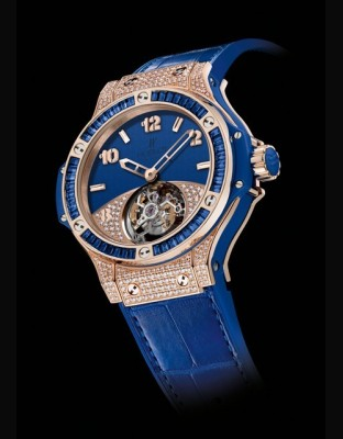 Big Bang Tutti Frutti Tourbillon Dark Blue Pavé