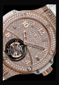 Big Bang Gold White Tourbillon Full Pavé