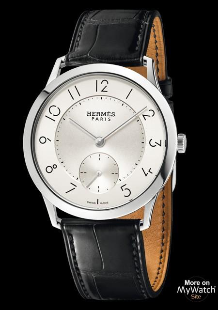 Hermès Slim d Hermès   Slim d Hermès Acier - Bracelet Alligator 0d05a388c6e