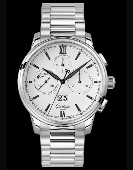 Senator Chronograph Panorama Date - bracelet acier