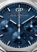 Laureato Chronographe -Acier sur acier cadran bleu foncé