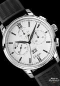 Senator Chronograph Panorama Date - bracelet caoutchouc