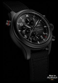 Montre d'Aviateur Double Chronographe TOP GUN Ceratanium