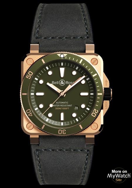 BR03-92 Diver Green Bronze