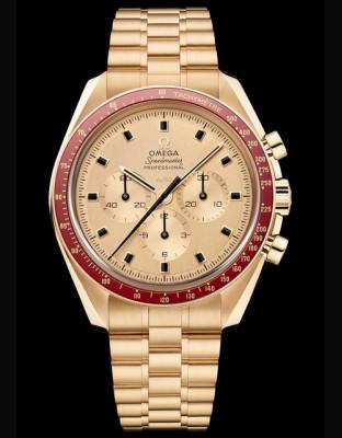 Omega Speedmaster Apollo 11 50e Anniversaire Or Moonshine Edition Limitée