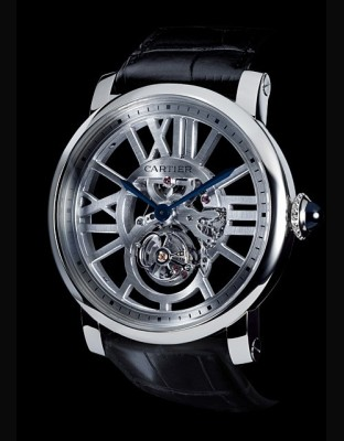 Rotonde de Cartier tourbillon volant squelette