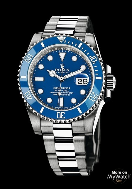 rolex submariner date oyster perpetual 116619 lb 97209 or gris lunette cerachrom bleu. Black Bedroom Furniture Sets. Home Design Ideas