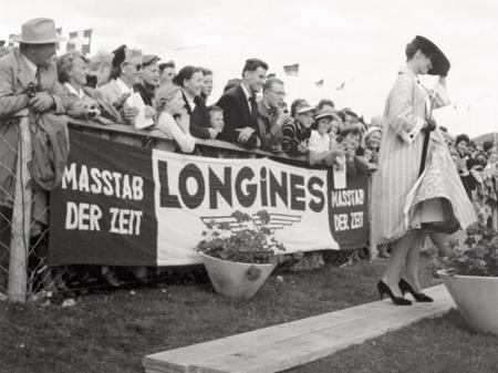 Concours Hippique International de Saint-Gall (Suisse) en 1956.