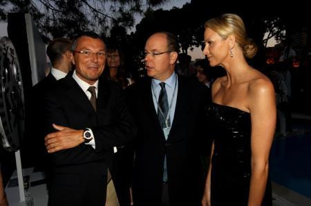 Jean-Christophe Babin avec S.A.S le Prince Albert II et Charlene Wittstock