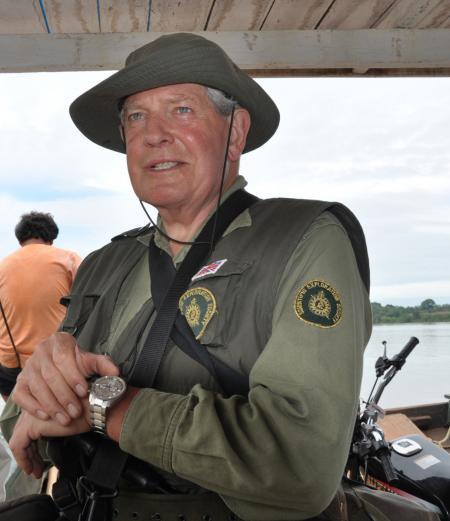 Le Colonel John Blashford-Snell durant sa mission amazonienne de 2011