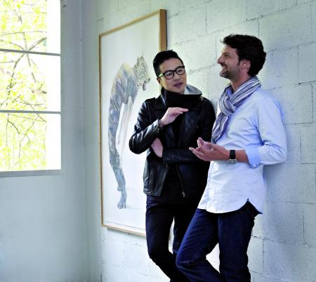 Maximilian Büsser et Huang Hankang ©galleries Bertrand & Grüner/Geneva and Danese/New York