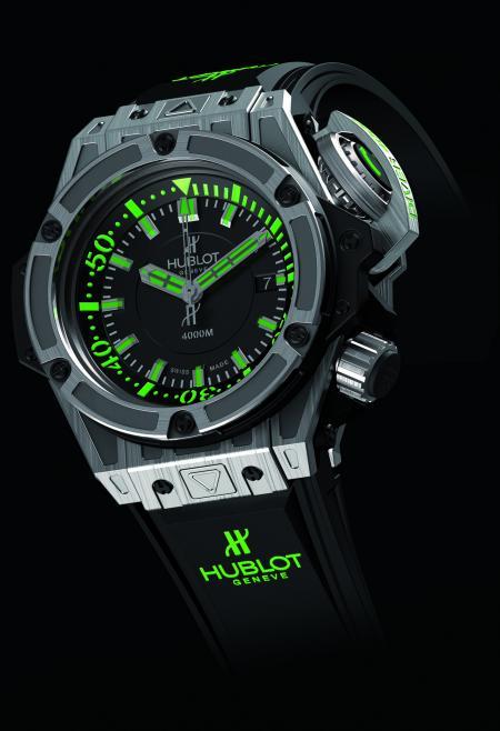 L'Oceanographic 4000 : une montre de plongée éditée en série limitée à 1000 exemplaires en titane.