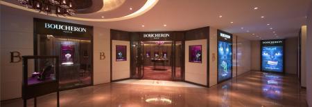 Superbe écrin Boucheron situé au Sparkle Roll Plaza à Pékin.