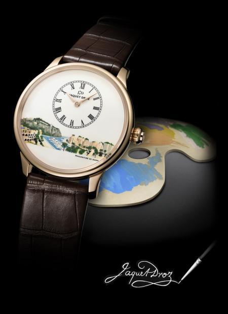 Le modèle Petite Heure Minute de Jacquet Droz transformé en véritable tableau horloger pour Only Watch 2011.