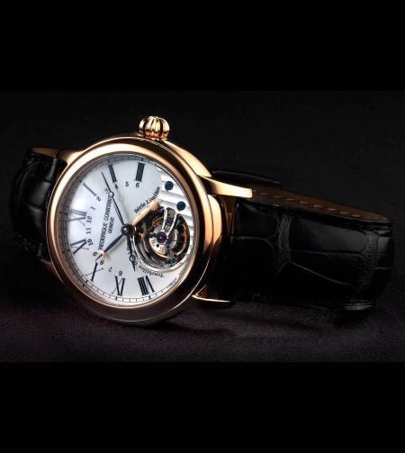 La montre Frédérique Constant vendue au profit de la fondation Children's Heart : le Tourbillon Manufacture dans une version en or rose avec cadran en émail
