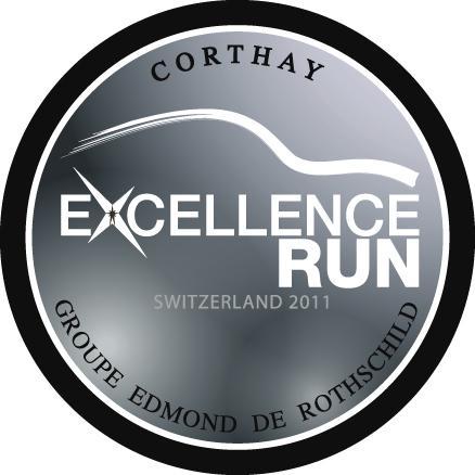 Logo de l'Excellence Run Corthay - Groupe Edmond de Rothschild : sur la route des métiers d'art.