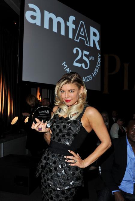 Pour son style et son engagement dans la lutte contre le sida, Fergie, la célèbre chanteuse du groupe Black Eyed Peas, a reçu le prix Piaget de l'Inspiration.