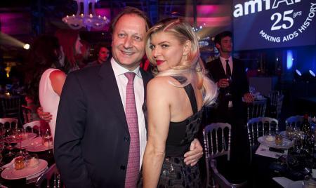 Fergie avec Olivier Perruchot, Directeur Général Piaget France et Royaume-Uni.