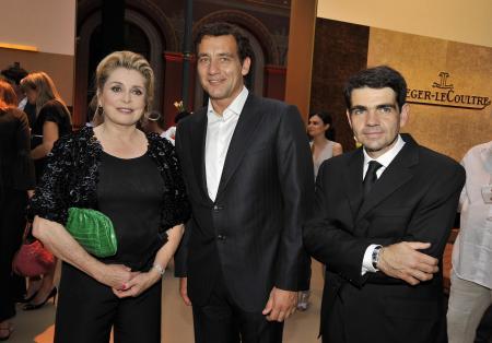Catherine Deneuve, Clive Owen et Jérôme Lambert lors de la soirée ayant pour thème Capturez votre instant magique.