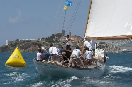 Le Blue Peter s'est imposé dans la catégorie 'Epoque de plus de 19 mètres'.
