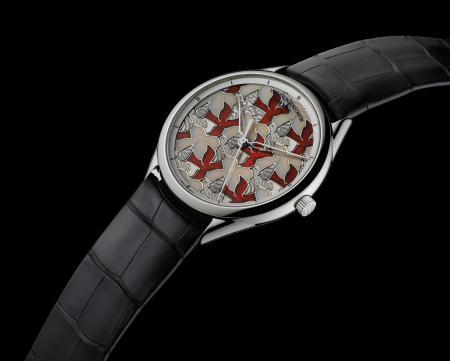 """La montre Métiers d'Art Perspectives d'Art """"Colombes"""" créée pour Only Watch 2011"""