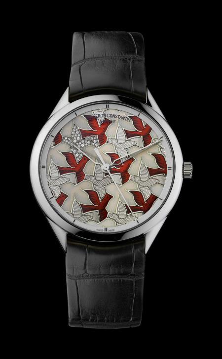 Le cadran de ce superbe garde-temps Vacheron Constantin est inspiré d'un dessin d'Escher.
