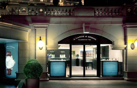 L'entrée de la nouvelle boutique A.Lange & Söhne à Hong Kong.
