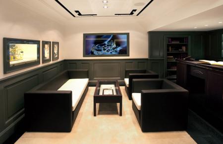 Confortable salon de réception.