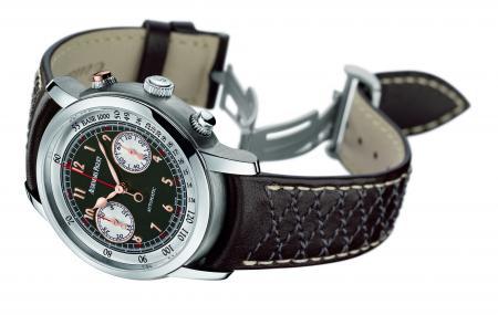 Le Chronographe Jules Audemars Gstaad Classic 2011, édité à 250 exemplaires : un élégant garde-temps au look vintage et sportif.
