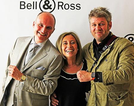 Carlos C. Rossillo, PdG Bell & Ross; Barbara Dumas, Directrice Internet et e-commerce ; Simon Cudd, Community Ambassador.