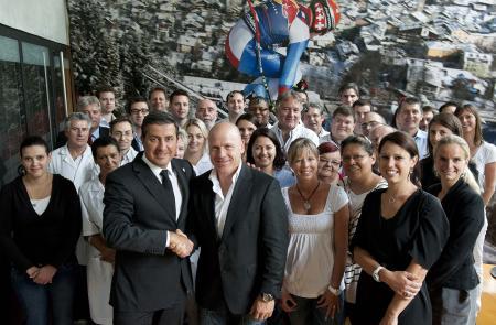 Des valeurs communes scellent le partenariat entre le skieur Didier Cuche et la maison horlogère Corum.