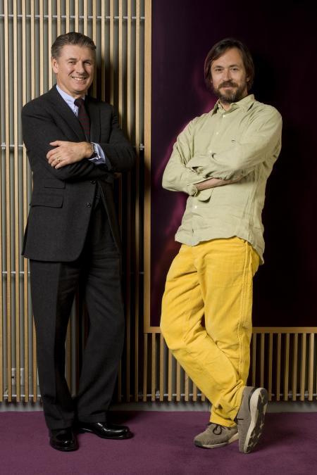 Le designer Marc Newson avec Janek Deleskiewicz, Directeur artistique Jaeger-LeCoultre.