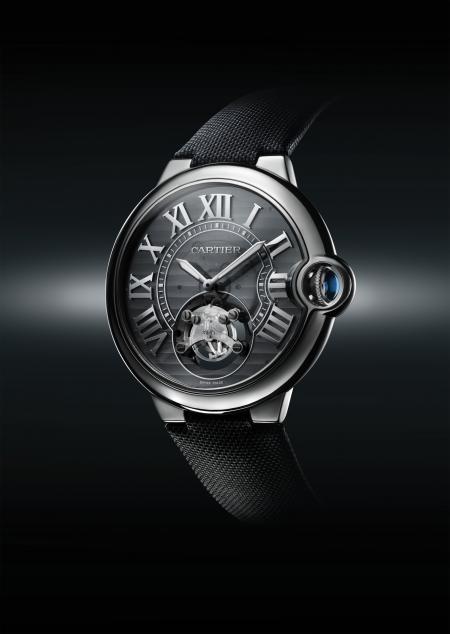 Montre concept Cartier ID One. Boîtier de 46 mm en niobium-titane. Mouvement mécanique Manufacture Cartier à remontage automatique, sans réglage. Cette montre concept n'est pas commercialisée.