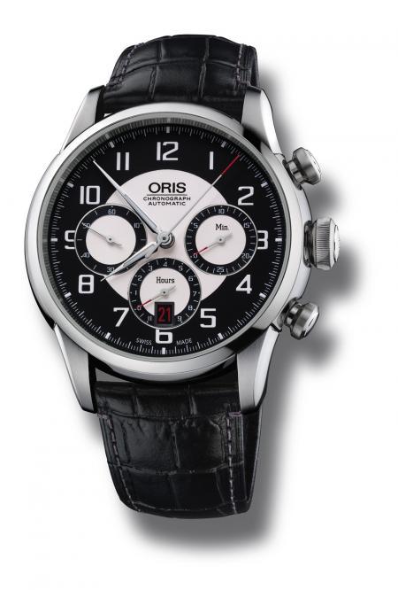 Le cadran de la 'Oris RAID 2011 Chronograph Edition' s'inspire du tableau de bord de l'Austin Healey 100M.