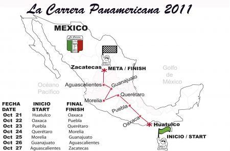 Parcours de la Carrera Panamericana 2011.