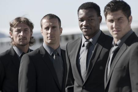 Gabriel Heinzé, Benoît Cheyrou, Steve Mandanda et André-Pierre Gignac.