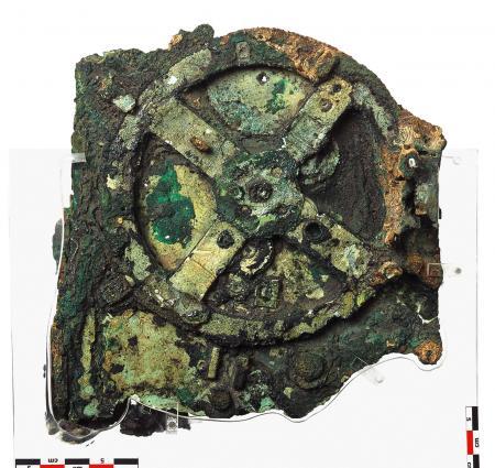 Fragment du mécanisme d'Anticythère qui fut découvert en 1901.