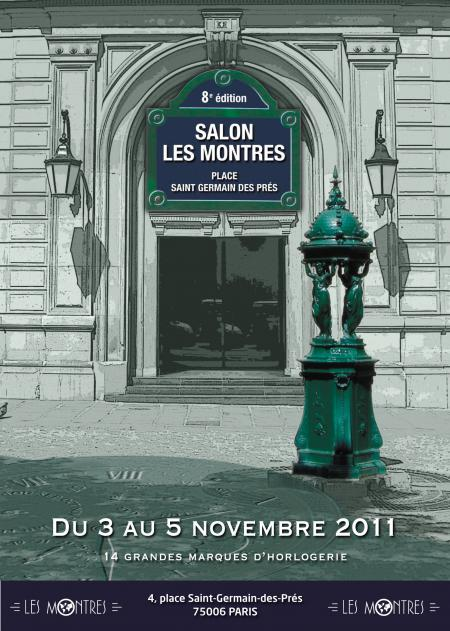 L'affiche du Salon Les Montres, du 3 au 5 novembre 2011 à Paris.
