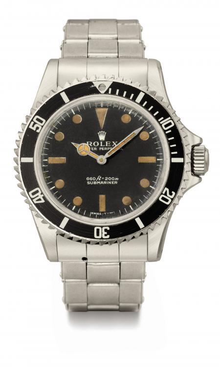 La Rolex Submariner portée par Roger Moore dans le film 'Vivre et laisser mourir' dans lequel il incarne James Bond. ©Christie's Images LTD. 2011