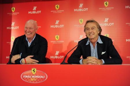 Jean-Claude Biver, CEO de Hublot, et Luca Cordero di Montezemolo, Président de Ferrari S.p.A.©Raphael Faux